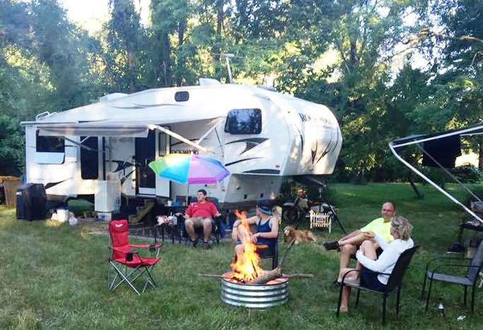 Voyaging And Camping In A Travel Trailer